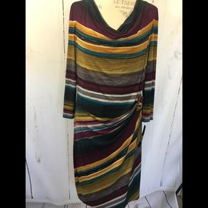 NWT TAHARI Faux Wrap Dress